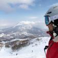 Marine Lorphelin au ski au Japon, le 25 mars 2019.