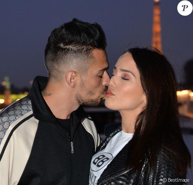 """Exclusif - Julien Tanti et sa compagne Manon Marsault à la soirée du 9e anniversaire du site en ligne """"AliExpress.com"""" à Paris le 28 mars 2019. © Veeren/Bestimage"""