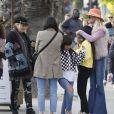 Semi-exclusif - Laeticia Hallyday est allée déjeuner avec ses filles Jade et Joy, sa mère Françoise Thibault et la compagne de son frère, Maryline Issartier au restaurant Ivy à Santa Monica le 9 mars 2019