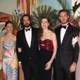 "La princesse Alexandra de Hanovre, Charlotte Casiraghi et son compagnon Dimitri Rassam, Pierre Casiraghi - 65ème édition du Bal de la Rose donné au profit de la Fondation Princesse Grace sur le thème de la Riviera, une idée de K. Lagerfeld, à la Salle des Etoiles du Sporting Monte-Carlo à Monaco, le 30 mars 2019. © Jean-Charles Vinaj / Pool Monaco / Bestimage  People attend the Rose Ball 2019 to benefit the Princess Grace Foundation on March 30th, 2019 at the Sporting Monte-Carlo – Salle des Etoiles in Monaco. The theme of this year event will be the one chosen by the legendary designer K. Lagerfeld, it is ""The Riviera"".30/03/2019 - Monaco"