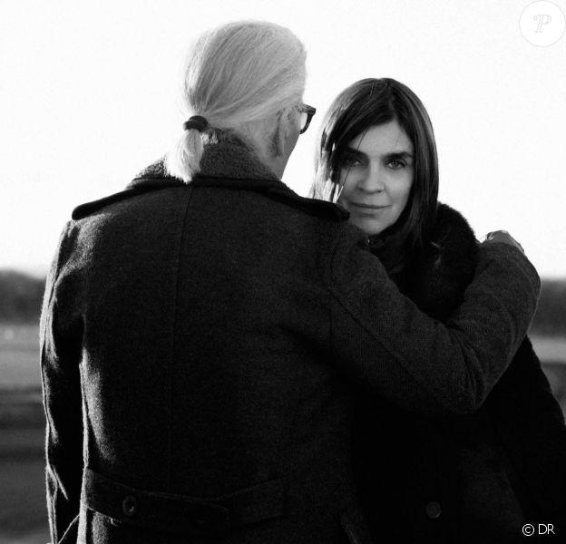 Karl Lagerfeld et Carine Roitfeld.