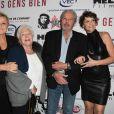 """Muriel Robin, Line Renaud, Alain Delon et Anne Le Nen - Avant-première du film """"Des gens bien"""" au cinéma Gaumont-Opéra à Paris le 2 avril 2019. © Coadic Guirec/Bestimage"""
