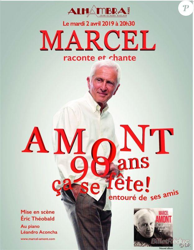 Marcel chante et raconte Amont, 90 ans ça se fête ! Le 2 avril 2019 à l'Alhambra de Paris.