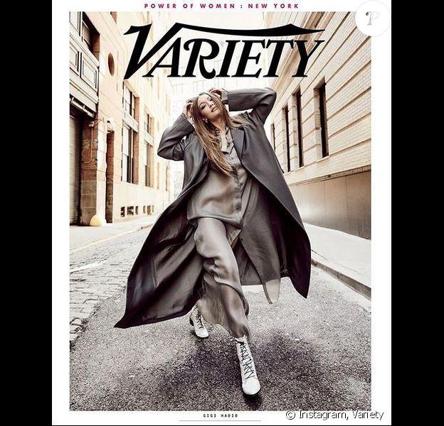 Gigi Hadid en couverture du magazine Variety.
