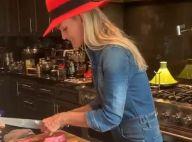 Laeticia Hallyday cuisinière stylée avec Joy, pour l'anniversaire d'un ami cher