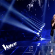 "Hannah Featherstone dans ""The Voice 8"" sur TF1, le 13 avril 2019."