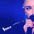 "Louna dans ""The Voice 8"" sur TF1, le 13 avril 2019."