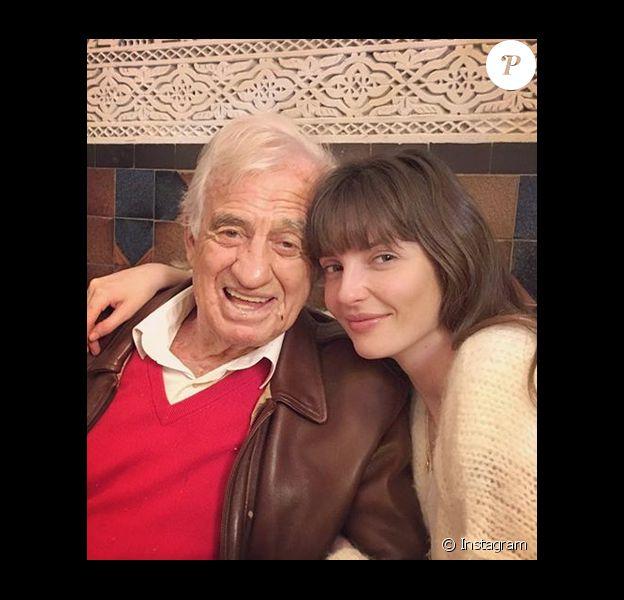 Jean-Paul Belmondo et sa petite-fille Annabelle - 9 avril 2019