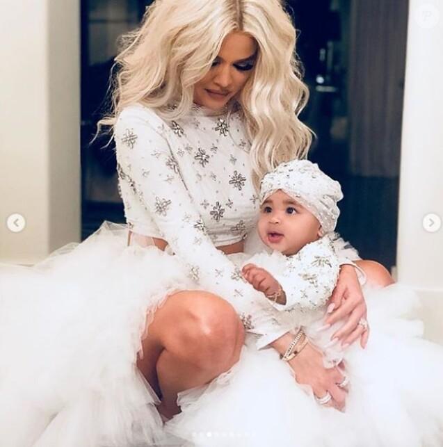 Khloé Kardashian avec sa fille True Thompson sur Instagram le 26 décembre 2018.