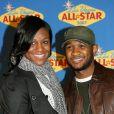 Usher et Tameka Foster en février 2007