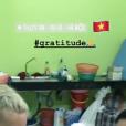 Laeticia Hallyday en voyage au Vietnam- 20 avril 2019.