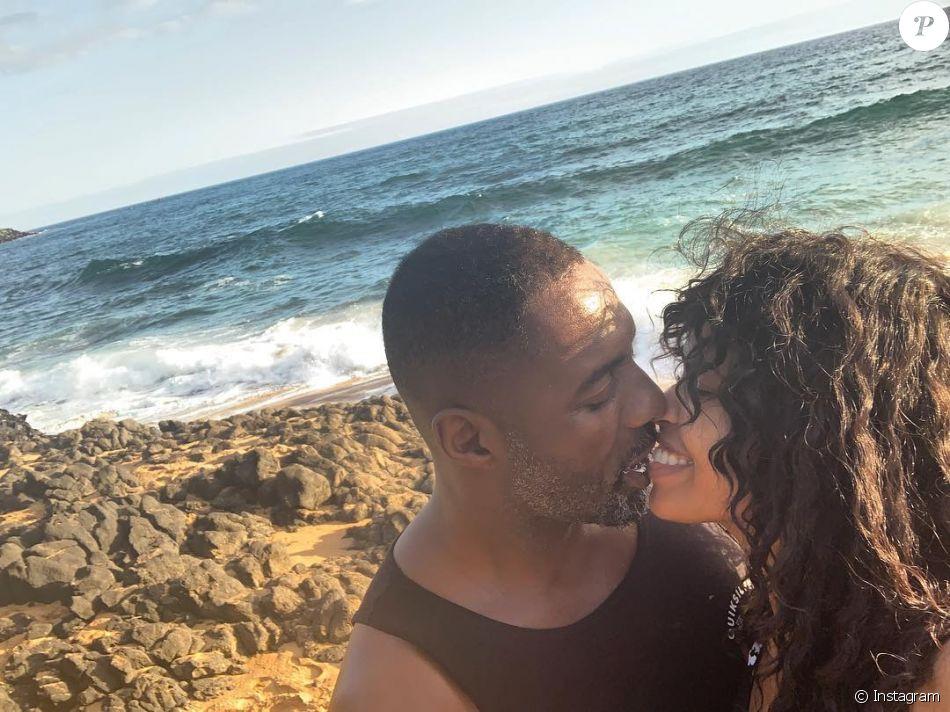 Idris Elba et Sabrina Dhowre, photo publiée par la jeune femme sur Instagram lors de la Saint-Valentin 2019.
