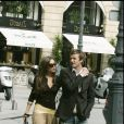 David et Victoria Beckham à Paris, le 18 avril 2005