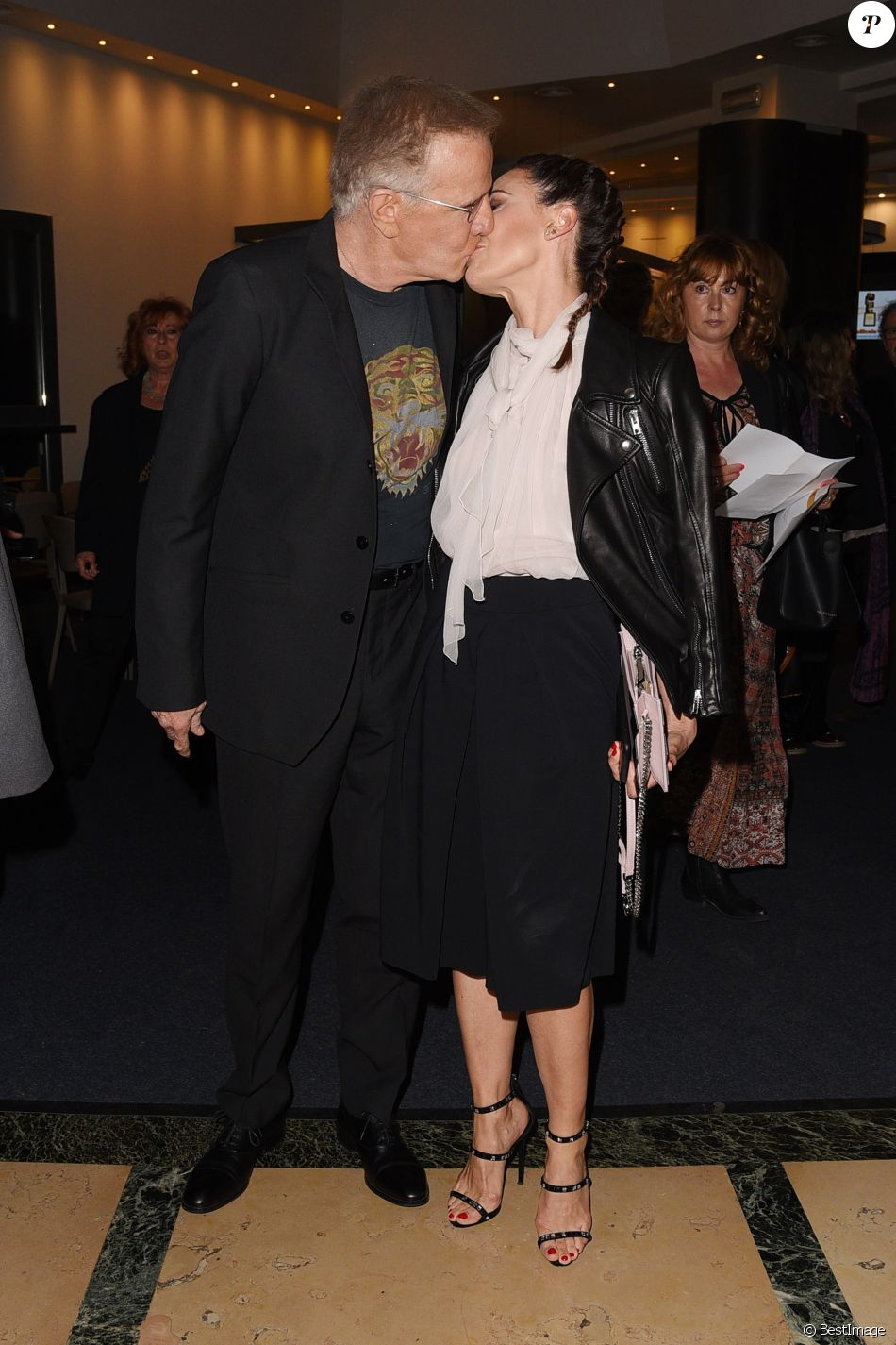 Christophe Lambert et sa compagne Camilla Ferranti au Gala 'Pellicola D'Oro' à Rome en Italie, le 4 mai 2019.