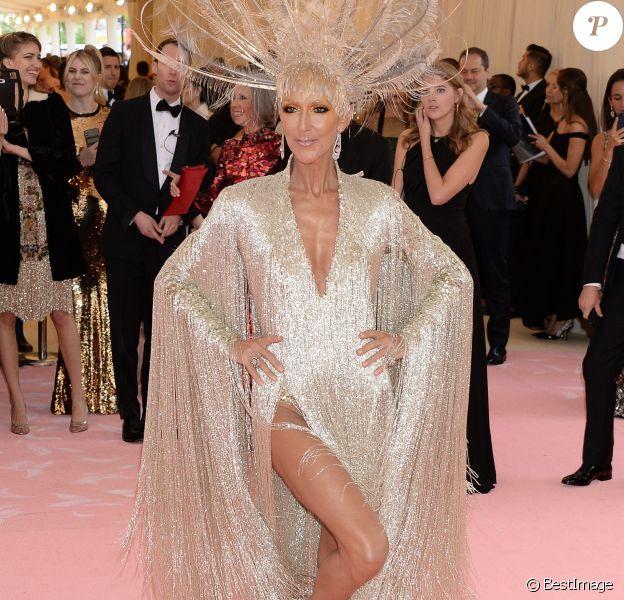 """Celine Dion en Oscar de la Renta au 71e Met Gala du Costume Institute sur le thème """"Camp: Notes on Fashion"""" au Metropolitan Museum of Art à New York, le 6 mai 2019."""