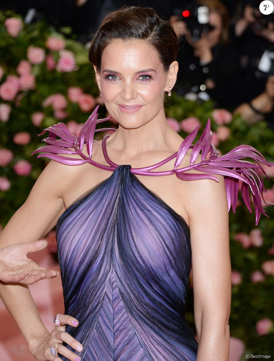 "Katie Holmes lors de la 71ème édition du MET Gala (Met Ball, Costume Institute Benefit) sur le thème ""Camp: Notes on Fashion"" au Metropolitan Museum of Art à New York City, New York, Etats-Unis, le 6 mai 2019."