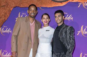 Will Smith au top à Paris au côté des nouveaux visages d'Aladdin et Jasmine !