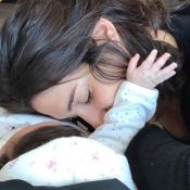 """Laurie Cholewa triste : """"première séparation"""" avec sa fille"""
