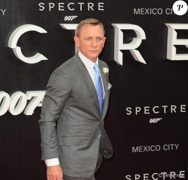 """Daniel Craig - Première du film """"007 Spectre"""" à Mexico, le 2 novembre 2015."""