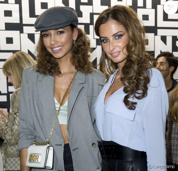 Flora Coquerel et Malika Ménard assistent à la soirée de lancement de la collection LGP de Longchamp au grand magasin Galeries Lafayette Champs-Élysées. Paris, le 14 mai 2019.