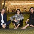Guillaume Houzé, Kendall Jenner et Sophie Delafontaine assistent à la soirée de lancement de la collection LGP de Longchamp au grand magasin Galeries Lafayette Champs-Élysées. Paris, le 14 mai 2019.