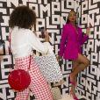 Hanna Lhoumeau et Didistone Olomidé assistent à la soirée de lancement de la collection LGP de Longchamp au grand magasin Galeries Lafayette Champs-Élysées. Paris, le 14 mai 2019.