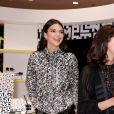 Kendall Jenner, Sophie Delafontaine et Guillaume Houzé assistent à la soirée de lancement de la collection LGP de Longchamp au grand magasin Galeries Lafayette Champs-Élysées. Paris, le 14 mai 2019.