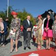 L'archiduchesse Beatrice d'Autriche-Este, le comte Riprand von und zu Arco-Zinneberg et leurs filles Gabrielle, Olympia, Giorgiana et Margherita - Mariage de la comtesse Anna Theresa d'Arco-Zinnenberg et Colin McKenzie en la basilique de Niederalteich, Allemagne, le 29 septembre 2018.
