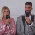 """Sarah Lopez et Jonathan de """"Moundir et les apprentis aventuriers 4"""" se sont confiés sur leur couple lors d'une interview pour """"Purepeople"""", le 7 mai 2019, chez M6"""