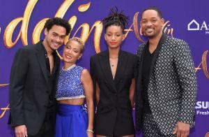 Will Smith avec sa femme et ses 3 enfants : Le Génie d'Aladdin aux anges