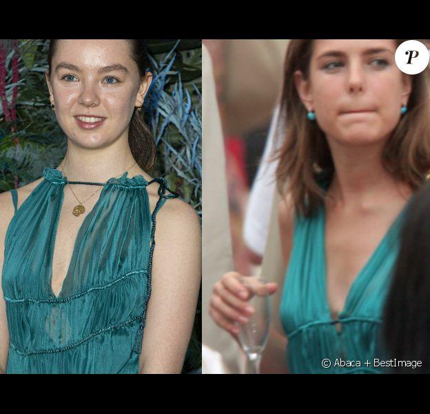 Alexandra de Hanovre et Charlotte Casiraghi portent la même robe à 14 ans d'intervalle.