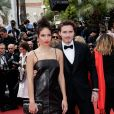 "Hana Cross (Habillé en Salvatore Ferragamo) et son compagnon Brooklyn Beckham (Habillé en Salvatore Ferragamo) - Montée des marches du film ""Once upon a time... in Hollywood"" lors du 72ème Festival International du Film de Cannes. Le 21 mai 2019 © Jacovides-Moreau / Bestimage"