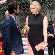 Le prince Carl Philip de Suède avec la princesse Charlène de Monaco lors de l'hommage rendu à Niki Lauda (décédé le 20 mai 2019) avant le départ du Grand Prix de Formule 1 de Monaco, le 26 mai 2019. David Nivière/Pool/Bestimage