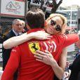 Charles Leclerc, la princesse Charlene de Monaco - People lors du 77 ème Grand Prix de Formule 1 de Monaco le 26 Mai 2019.