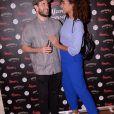 Exclusif - Flora Coquerel (Miss France 2014) et son compagnon Ugo Ciulla lors de la soirée du 10ème anniversaire du restaurant Schwartz's Deli au 7 Avenue d'Eylau dans le 16ème arrondissement de Paris le 27 mai 2019. © Rachid Bellak/Bestimage
