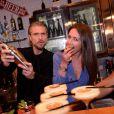 Exclusif - Anthony Dupray, Emmanuelle Boidron lors de la soirée du 10ème anniversaire du restaurant Schwartz's Deli au 7 Avenue d'Eylau dans le 16ème arrondissement de Paris le 27 mai 2019. © Rachid Bellak/Bestimage