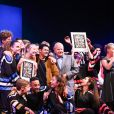 Marc Ladreit de Lacharrière et Jamel Debbouze - Finale du 9e Trophée d'Impro Culture & Diversité, au Théâtre de la Madeleine Paris le 27 mai 2019. © Coadic Guirec / Bestimage