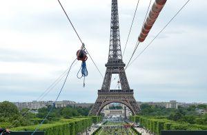 Camille Cerf et Karima Charni, courageuses, s'envolent depuis la Tour Eiffel !