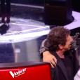 """Pierre Danaë et Patrick Bruel lors de la finale de """"The Voice 8"""" sur TF1, le 6 juin 2019."""