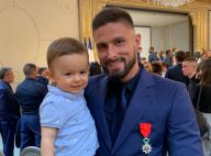 Olivier Giroud papa fier: À l'Élysée avec son fils Aaron, qui a sacrément grandi