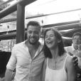 Sophie Marceau et Florian Barbarot réunis pour l'association Arc-en-Ciel, le 2 juin 2019.