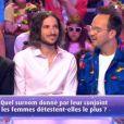 """Xavier, Michaël Youn et Jarry lors du """"Combat des Maîtres"""" sur prime-time sur TF1."""