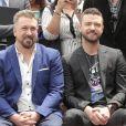 Joey Fatone, Justin Timberlake - Les membres du groupe NSYNC reçoivent leur étoile sur le Walk of Fame à Hollywood le 30 avril 2018.