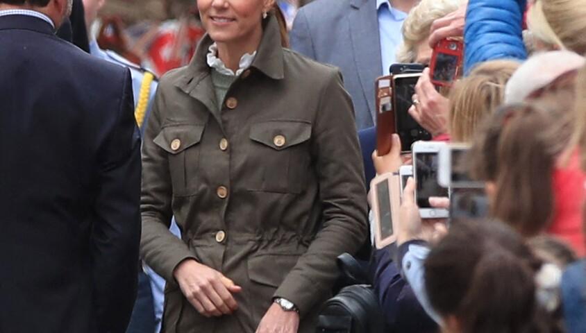 Kate Middleton, duchesse de Cambridge, et le prince William en visite à Keswick dans le comté de Cumbria dans le nord de l'Angleterre, le 11 juin 2019.