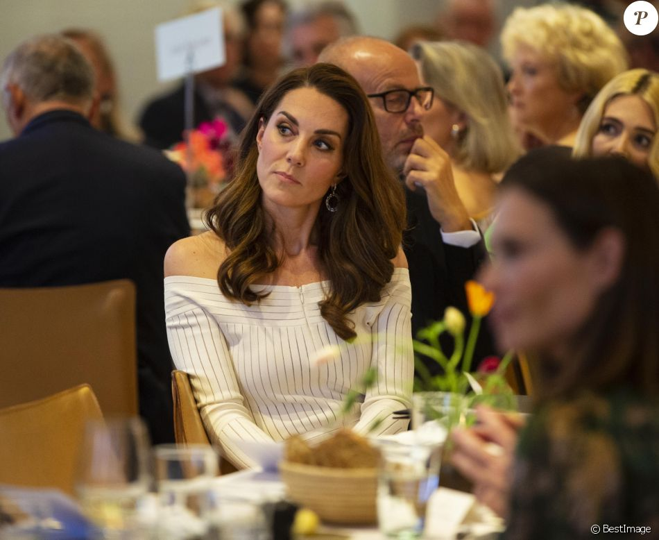 """Kate Middleton, duchesse de Cambridge, lors du dîner de gala """"Action on Addiction"""" à Londres, le 12 juin 2019."""