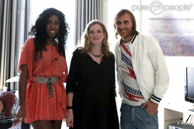 Kelly Rowland, Nathalie Kosciusko-Morizet et David Guetta, à l'occasion de la 28e édition de la fête de la musique, à l'Hôtel de Broglie, le 21 juin 2009 !