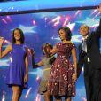 Barack Obama et sa famille, le 6 septembre 2012 à Charlotte (USA).