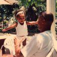 Tina Kunakey souhaite une bonne fête des Pères à son papa Robin Kunakey en story de son compte Isntagram, le 16 juin 2019.