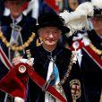 """Mary Peters le 17 juin 2019 au château de Windsor lors des cérémonies de l'ordre de la Jarretière, qui compte le roi Felipe VI d'Espagne et le roi Willem-Alexander des Pays-Bas comme nouveaux chevaliers """"étrangers"""" (surnuméraires)."""