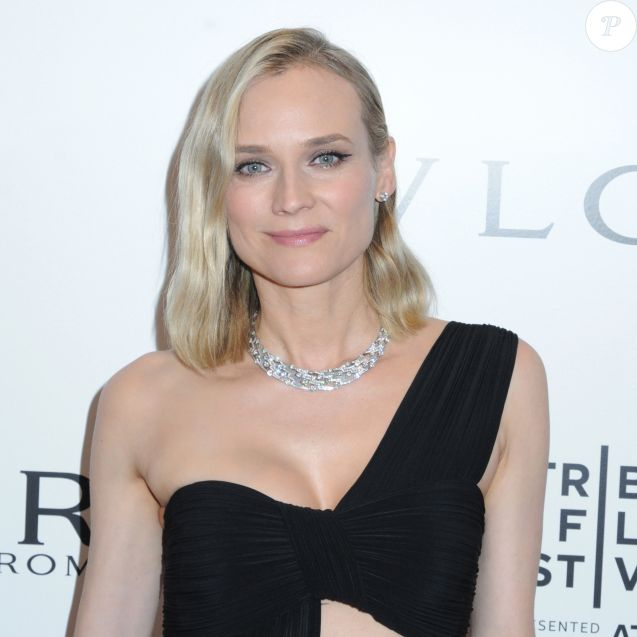 "Diane Kruger lors de la première mondiale du film Bvlgari ""Celestial and The Fourth Wave"" avec Vanity Fair pour le 18ème festival du film Tribeca aux studios Spring à New York City, New York, Etats-Unis, le 23 avril 2019. © Ylmj/AdMedia/ZUMA Wire/Bestimage"